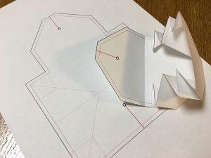 コインケースの型紙