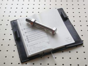 ほぼ日手帳weeksカバー商品画像008:開いた時の画像です。