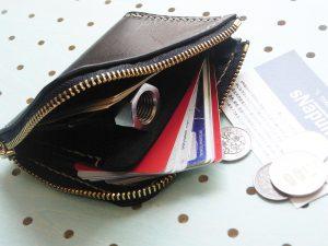 ミニウォレット商品画像008:カードとお札を首脳してみました。余裕の収納力です。