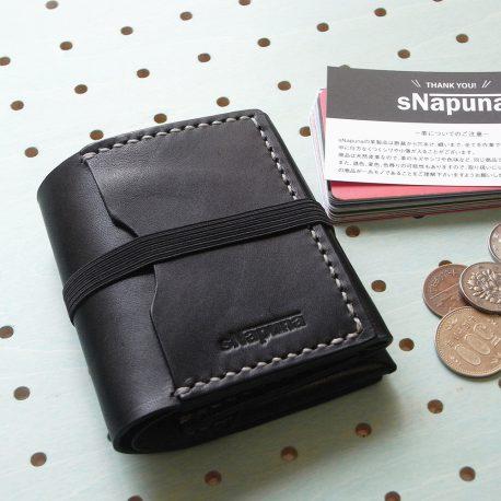 スナップミニウォレット商品画像000:カード収納力を重視した、ミニウォレット(小型財布)です。とにかく「無駄を省き、無理なくカード収納ができるか」をテーマに作成しました。
