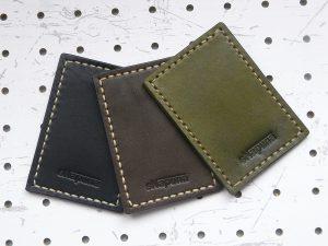 革色のサンプル画像:右から「緑」「焦げ茶」「黒」となります。