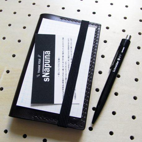 情報カードケース(5×3インチ)商品画像009:ゴムで固定して記入もできるような仕様になっています。