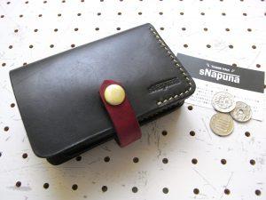 ハーフウォレットhw002-001商品画像:仕様は、カード入れ×6 ポケット×1 小銭入れ×1 札入れ×1・収納力は抜群です。