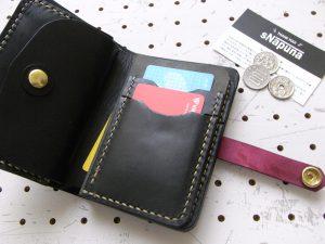 ハーフウォレットhw002-010商品画像:仕様は、カード入れ×6 ポケット×1 小銭入れ×1 札入れ×1となります。