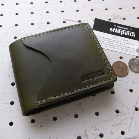 シンプルウォレット商品画像000:シンプルな二つ折り財布。カード収納×2・小銭入れ・札入れ。