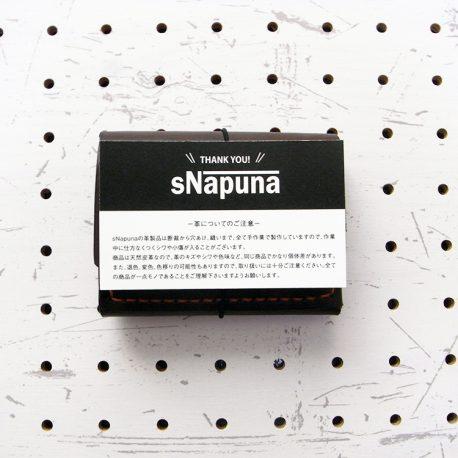 ミニマムウォレット003(ゴム紐)商品画像002:ほぼ名刺サイズです。