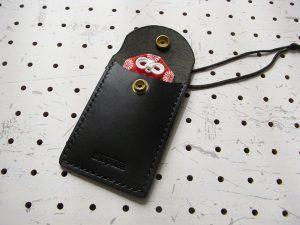 お守りケース(Lサイズ)商品画像005:お守りを入れてみました。余裕があります。