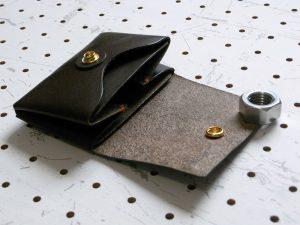 キャッシュレス財布(ボタン仕様)商品画像005:開いた時の画像です。
