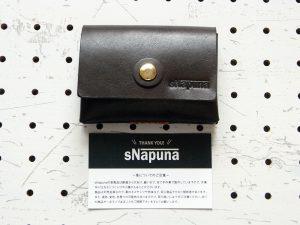 キャッシュレス財布(ボタン仕様)商品画像009:名刺との大きさ比較です。