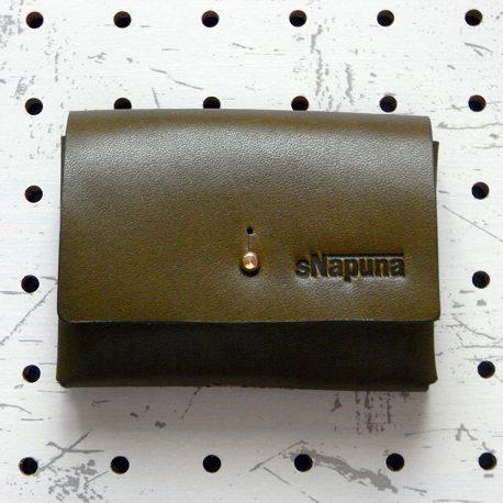キャッシュレス財布(ギボシ留め)商品画像002:表面から見た画像です