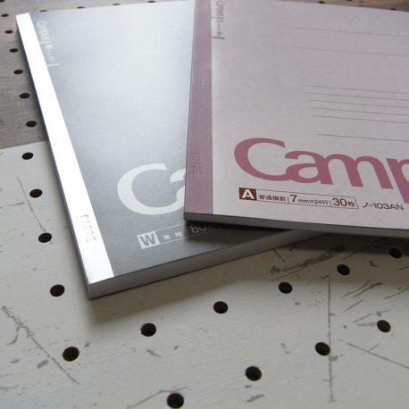 A5ノートカバー商品画像015:一般的なノート(30枚)と少し厚みのあるノート(80枚)、両方に対応しています。