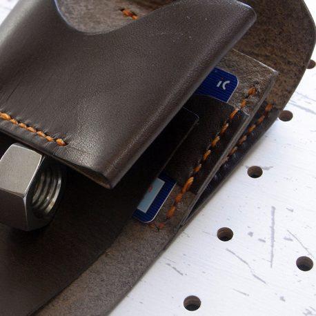 ミニマムウォレット002(ゴムバンド)商品画像007:カード収納の裏には更にカード収納を設けました