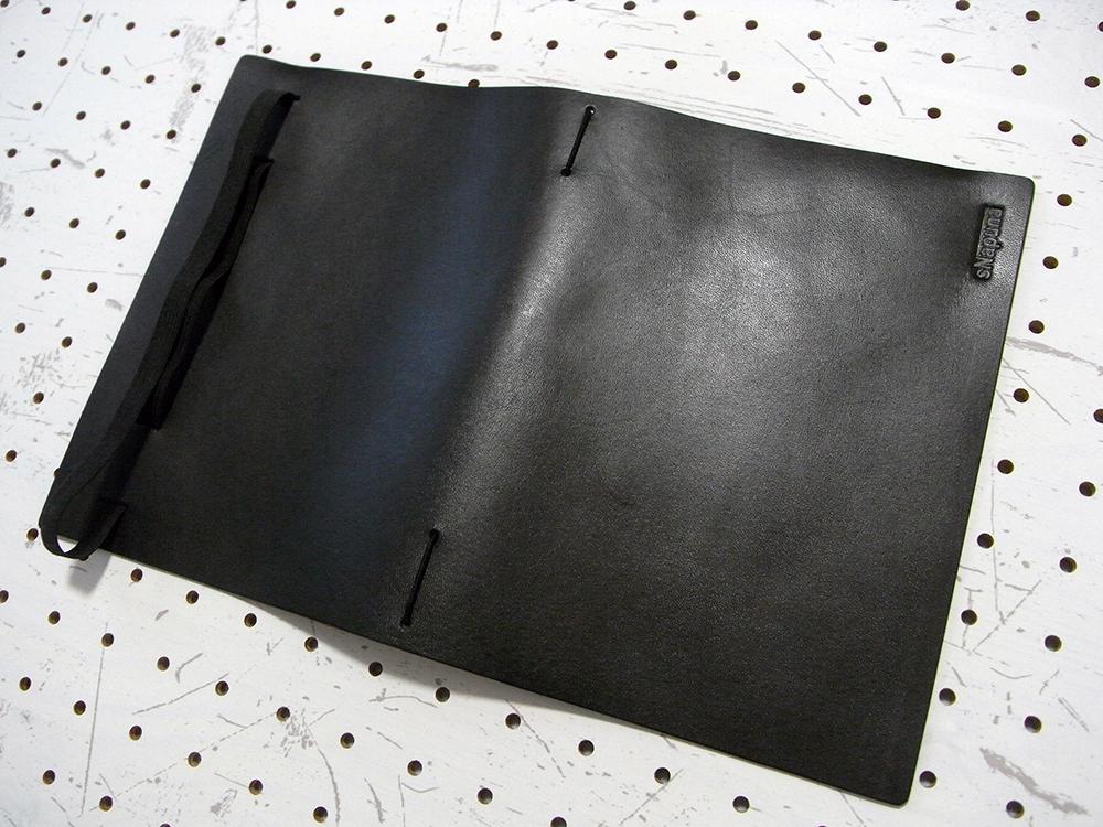 A5シンプルノートカバー商品画像003:展開して表面の画像です。